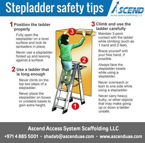 Welcome to ascend access system scaffolding l l c step for Ladder safety tips