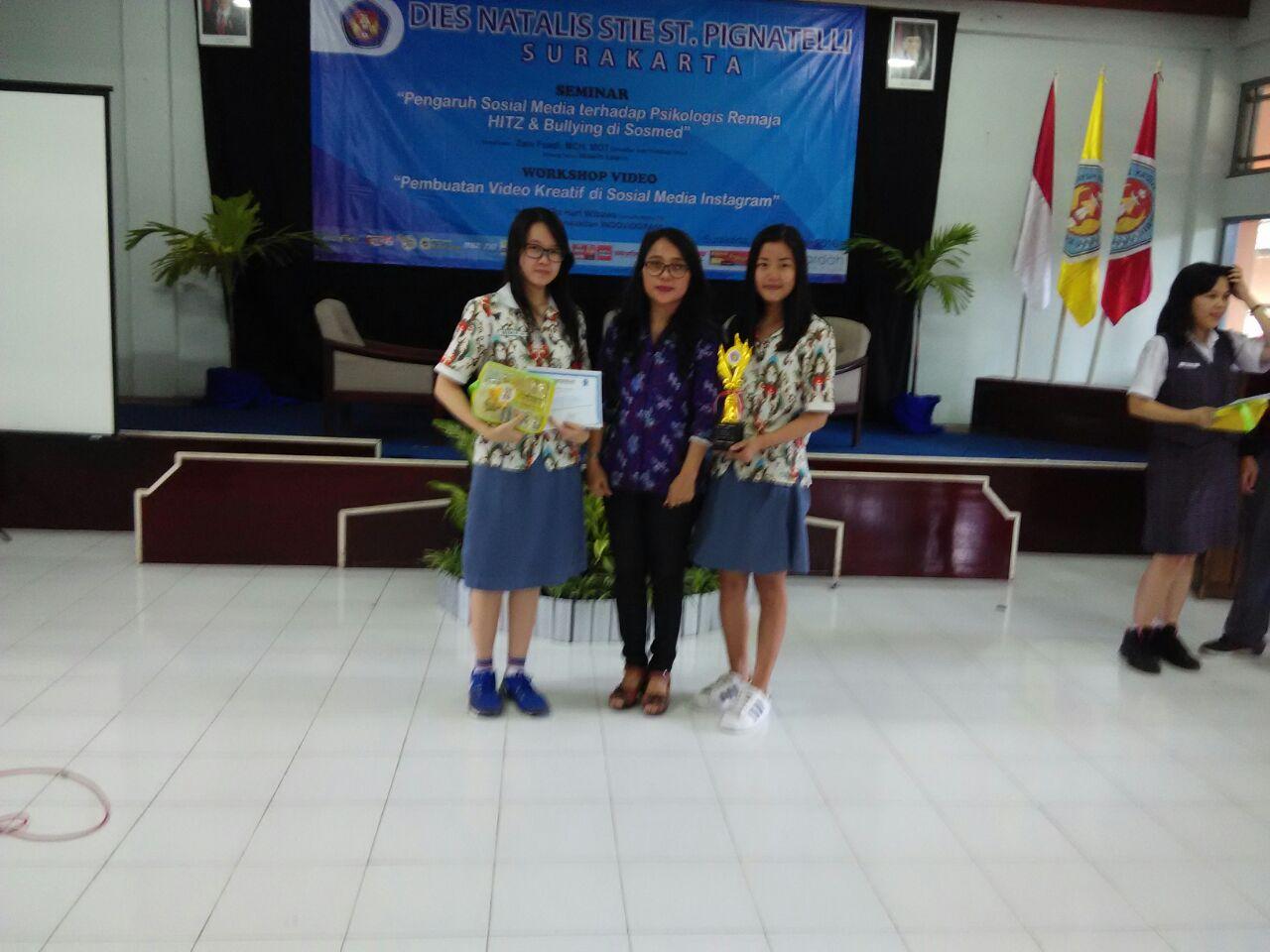 SMA Kristen Kalam Kudus Sukoharjo Juara 1 Olimpiade Akuntansi