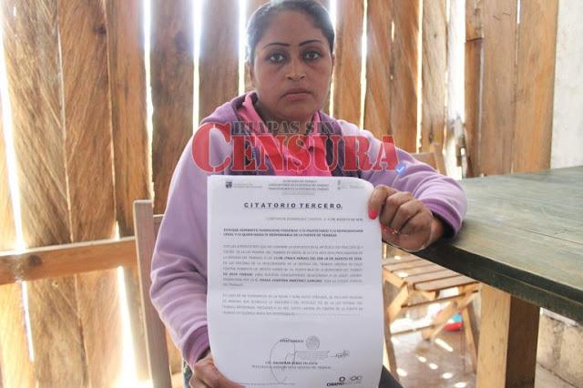 En Chiapas, mujer pidió finiquito a sus patrones y la encarcelaron
