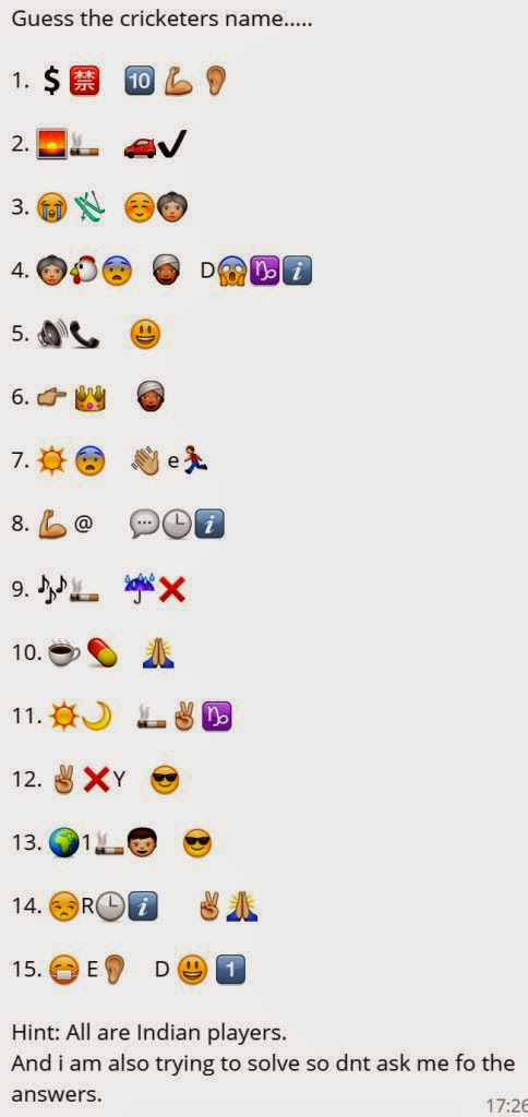 All Whatsapp Status And Sms Guess The Cricketers Name