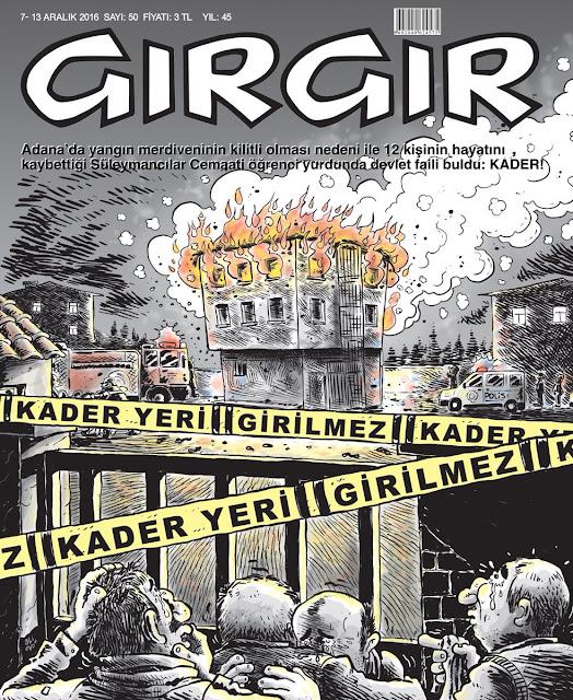 Gırgır Dergisi | 7-13 Aralık 2016 Kapak Karikatürü