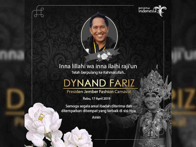 Maestro Carnival Indonesia, Dynand Fariz Tutup Usia, Arief Yahya Turut Berduka