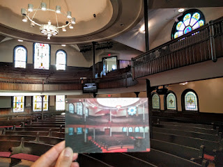 postcard of Central Evangelical Free Church inside Hope Community Church, Minneapolis, Minnesota
