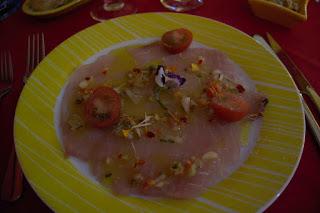 Entrée restaurant The Yellow à Fort de France, Martinique.