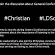 Joining the #Christian discussion during #LDSconf