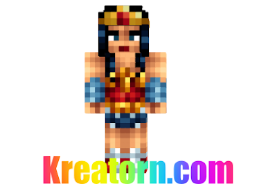 Minecraft Wonder Woman Skin