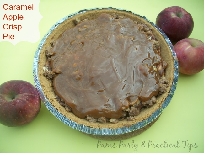Caramel Apple Crisp Pie by Pams Party and Practical Tips