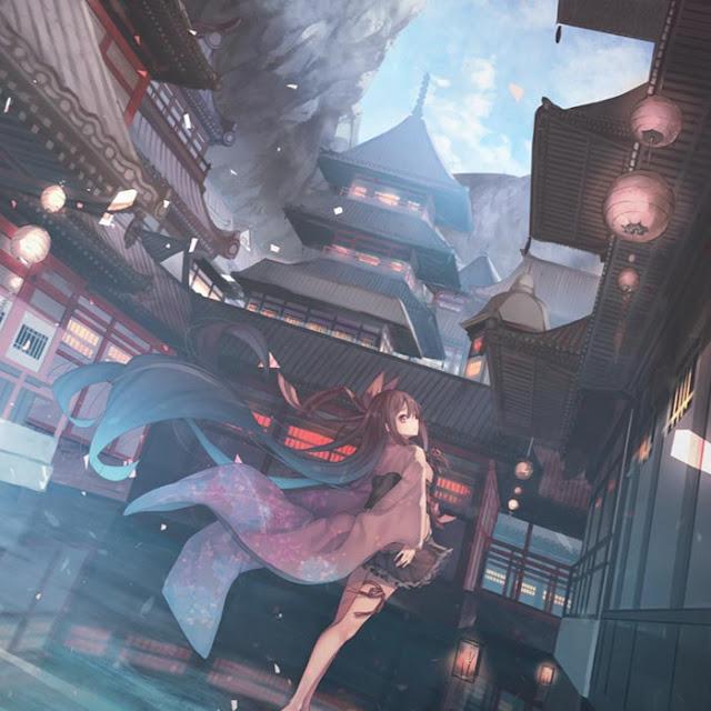 Water Girl Gu Feng Sakura Live Wallpaper Engine