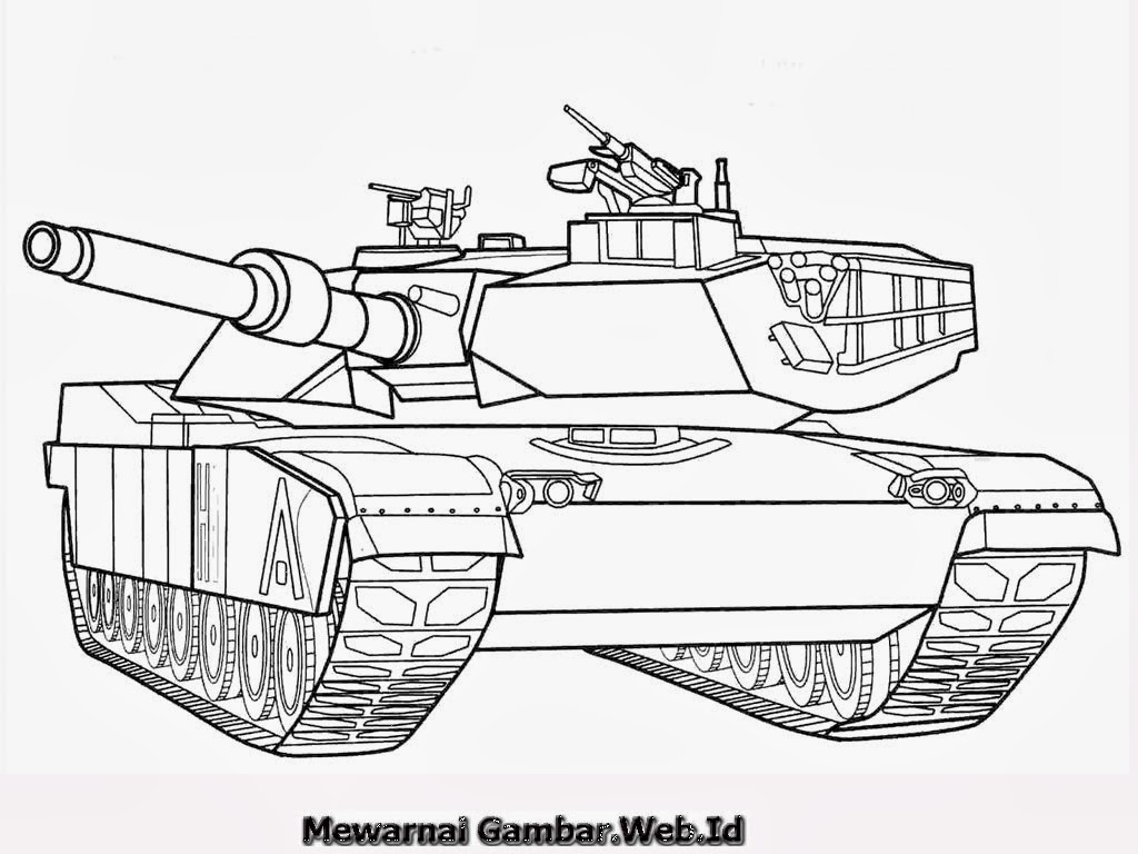 Aneka Gambar Mewarnai Tank