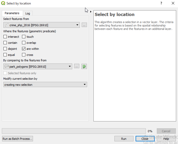 Spatial Query in QGIS 3 0