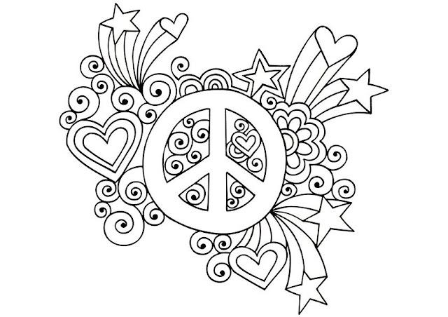 coloriage paix