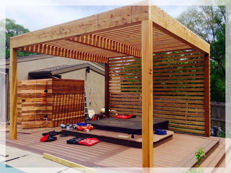 Modern Pergola in Dubai | Wooden Pergola | Luxury Pergola ...