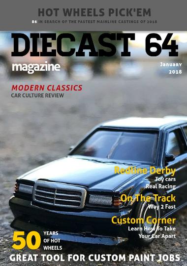 Hot Wheels Racing League Diecast 64 Magazine January Issue