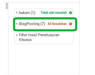 Cara Mengatasi Error Blogposting Pada Cek Struktur Data.