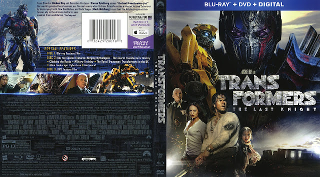 Transformers: The Last Knight Bluray Cover