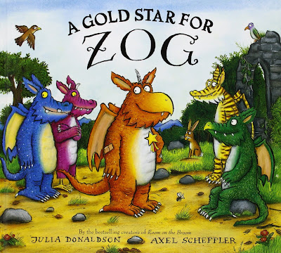 A Gold Star For Zog, part of Julia Donaldon book review list with crafts, activities and other resources