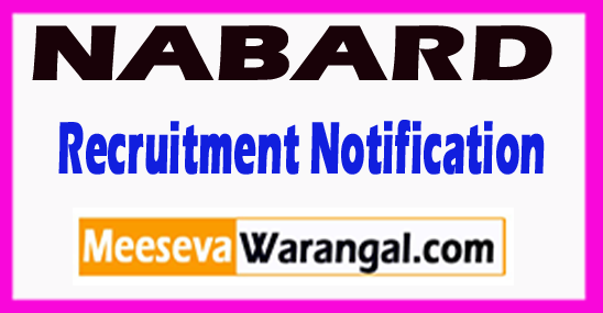 NABARD National Bank for Agriculture and Rural Development Recruitment