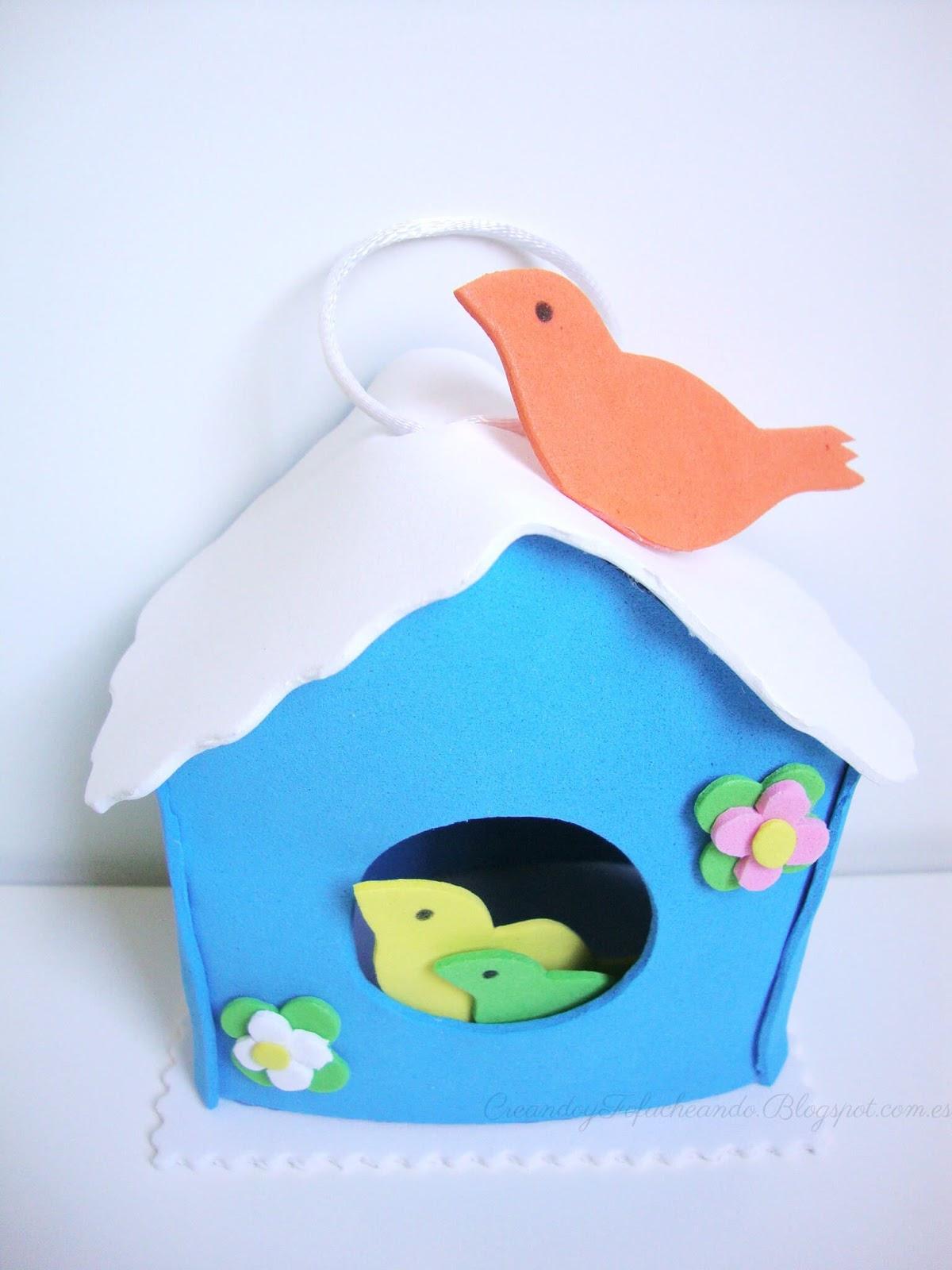Esta es mi casita nido para p jaros de goma eva - Casita para pajaros ...