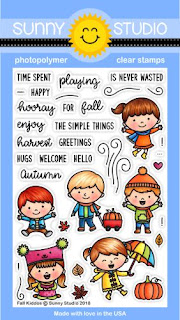 Sunny Studio Stamps: Fall Kiddos 4x6 Clear Photopolymer Stamps