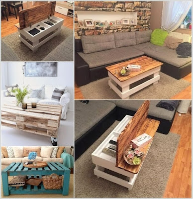 mesas hechas con palets de madera