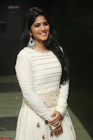 Megha Akash in beautiful White Anarkali Dress at Pre release function of Movie LIE ~ Celebrities Galleries 029.JPG