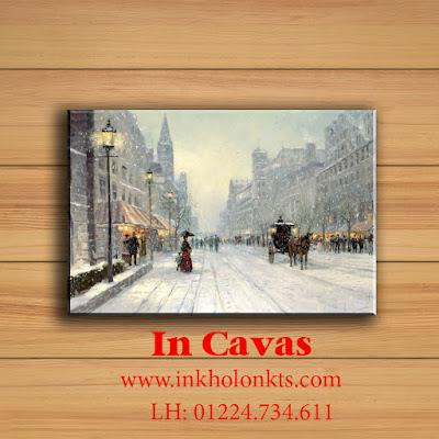 Tranh in Cavas