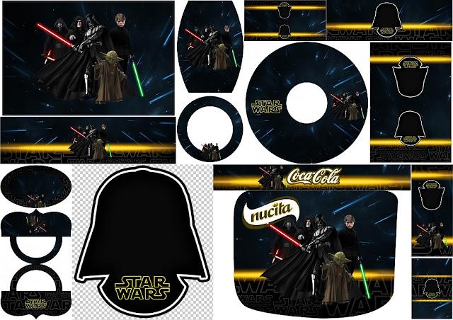 Star Wars: Etiquetas para Candy Bar para Imprimir Gratis.   Oh My ...