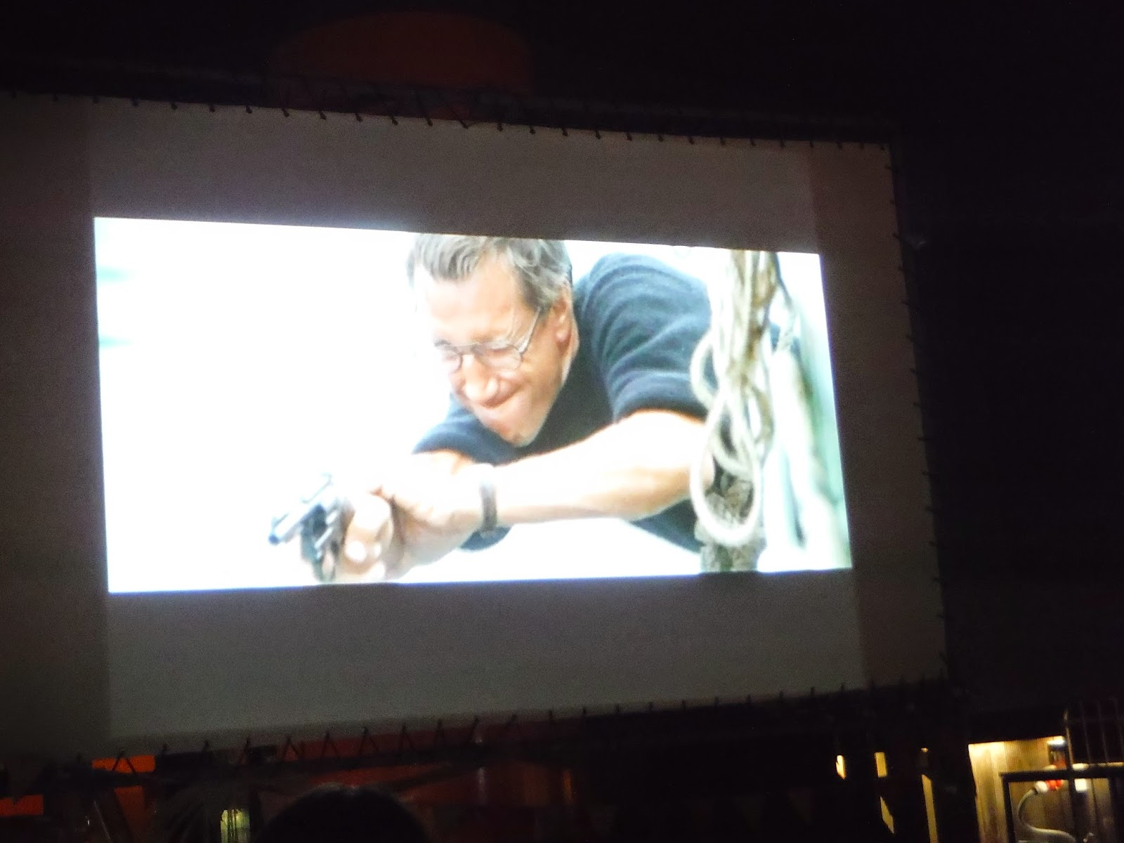another shot of the cinema screen as the film was showing