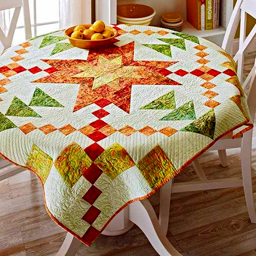 Fiery Starburst Quilt Free Pattern Designed By Kimberly Einmo of Allpeoplequilt