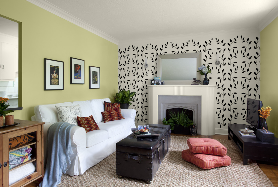 Accent wall paint ideas living room - Living Room Decoration Ideas Gorgeous Interior Design For Living Room Lime Green Accent Wall Colors White
