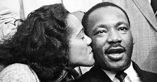 Coretta Scott King with her husband, Dr. Martin Luther King