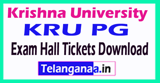Krishna University KRU PG Exam Hall Tickets Download