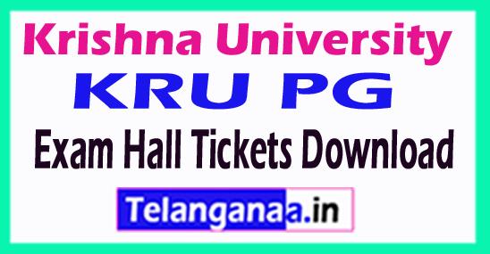 Krishna University KRU PG Exam Hall Tickets Download