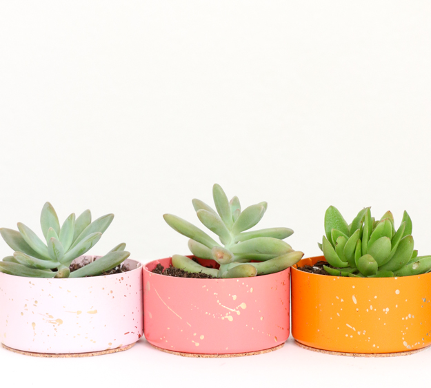 Gold Splatter Succulent Planters - DIY Gift ideas - gift idea homemade - Target