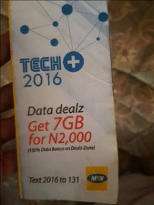 Get 7Gb Data For Just N2000 Via Tech+ 100% Dealzone