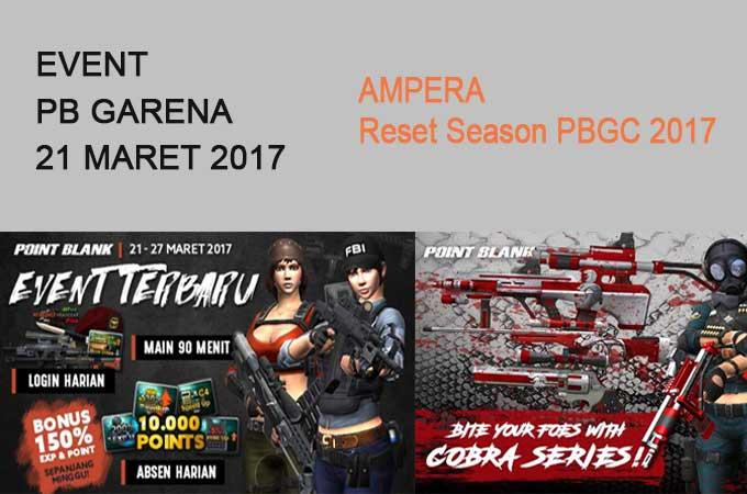 Event PB Garena 21 Maret 2017 Reset Season PBGC 2017