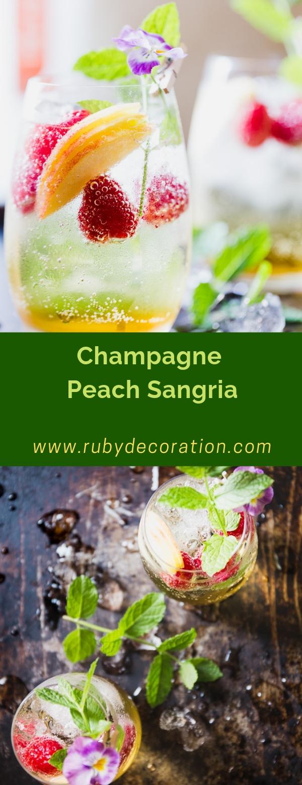 Champagne Peach Sangria