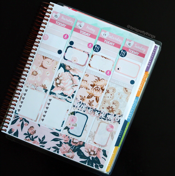Glam Planner Wedding Kit - Second Half of the Week Plans - Tori's Pretty Things Blog