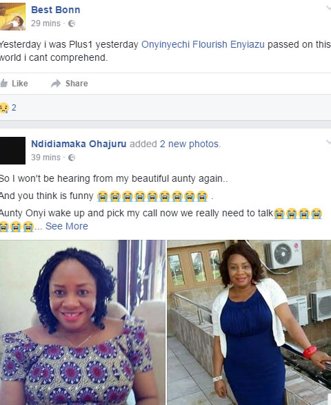 Lady dies after Facebook friend saw her die in a dream