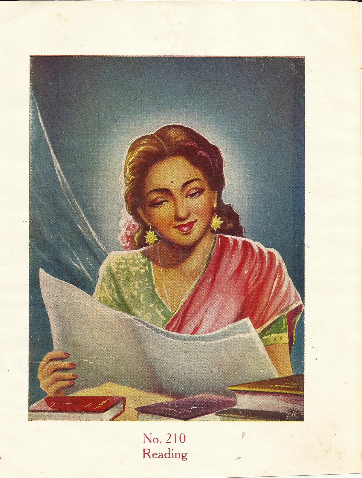 Heritage of India: Beautiful Indian Woman Reading ...