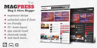 Magpress - Magazine Responsive Blogger Templates
