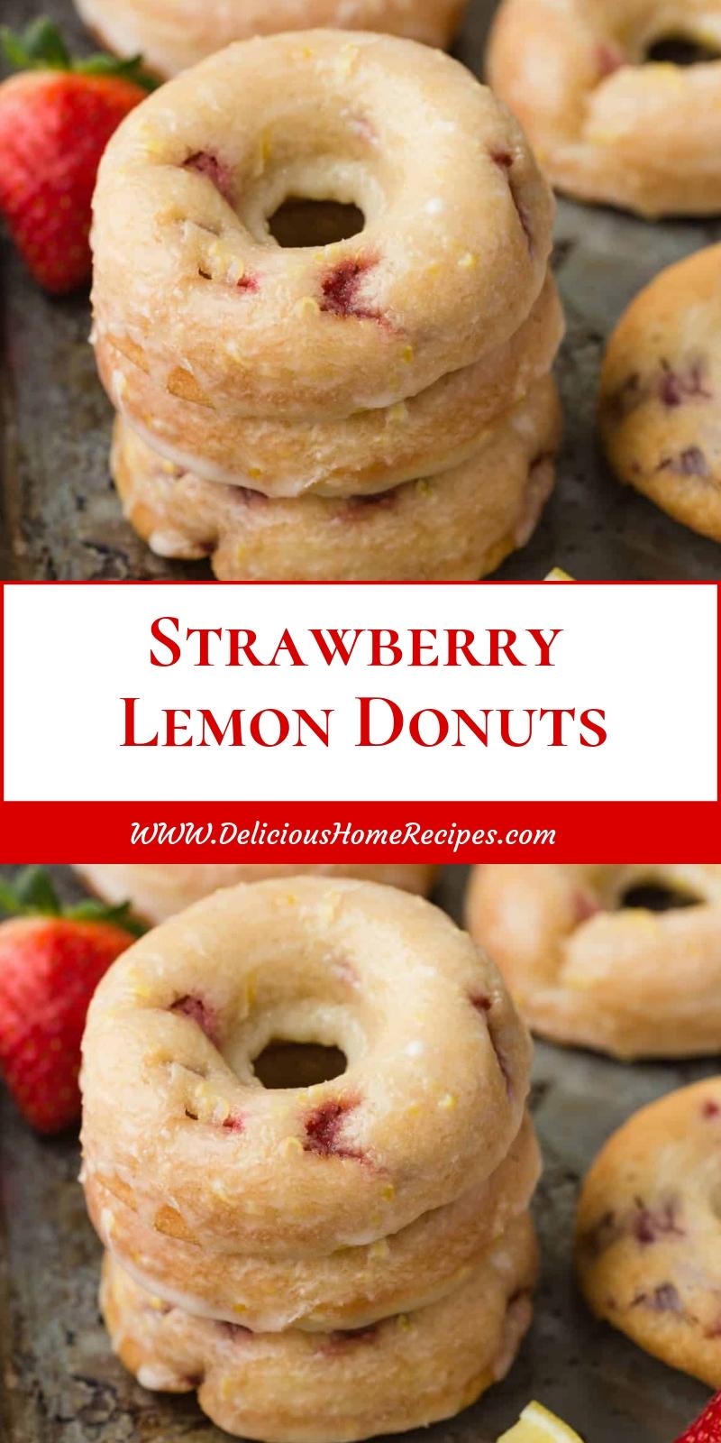 Strawberry Lemon Donuts