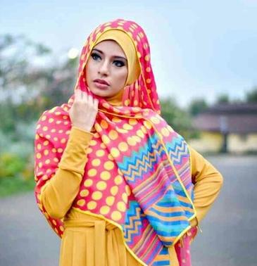 Gambar Model Hijab Syar'i Modern
