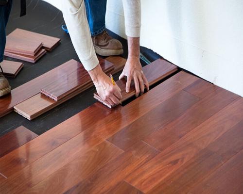 thi công sàn gỗ tự nhiên dán mặt