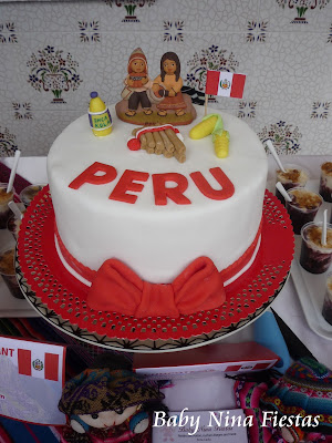 Perú cake fondant