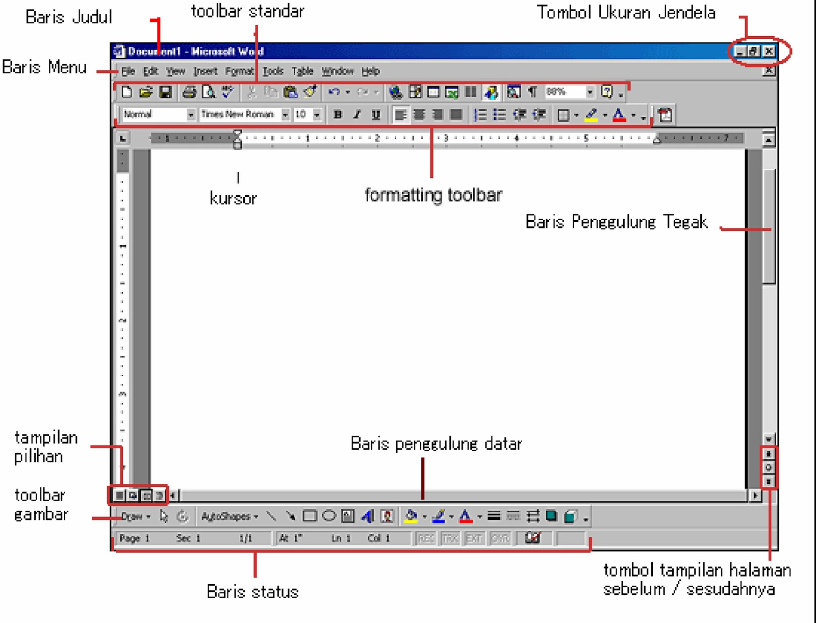 Fungsi Toolbar Drawing Pada Microsoft Excel