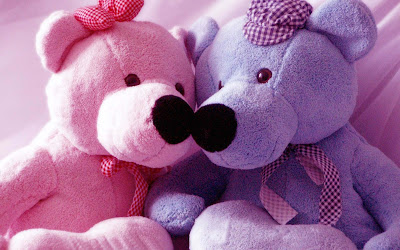 kissing-pink-lovender-teddybear-wallpapersnewstock