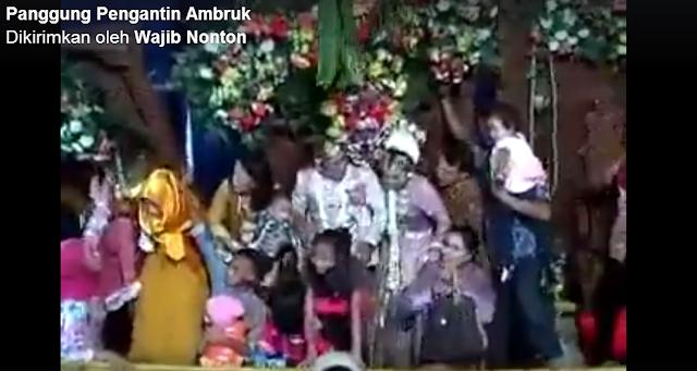 Lek Rabi Golek Dino Seng Apik Jon Ben Ra Ambrok Kwadene, Lucu atau Kasihan Dalam Acara yang Membahagiakan Untuk Mempelai Pengantin Terjadi Insiden Sep