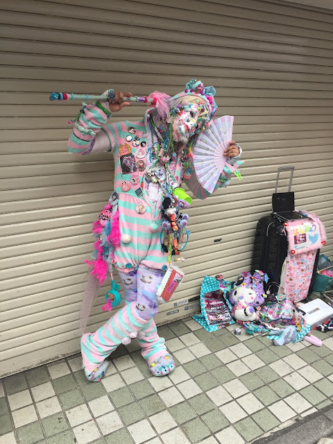 This colourful character we found Takeshita Street