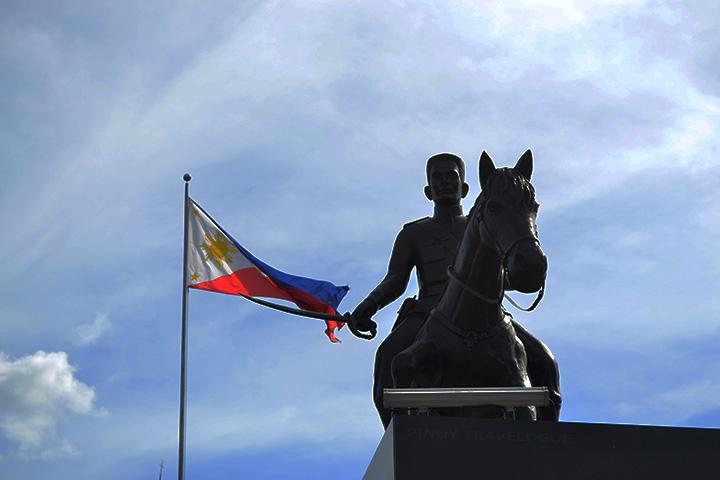 Emilio Aguinaldo's statue in Freedom Park